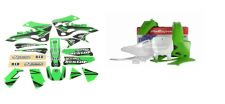 New KX 125 250 99 00 01 02 FLU PTS4 Graphics Sticker Plastic Kit Plastics